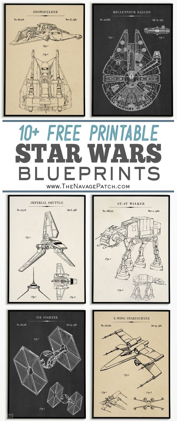 Free Printable Star Wars Blueprints | Star Wars Free Vintage - Free Printable Posters