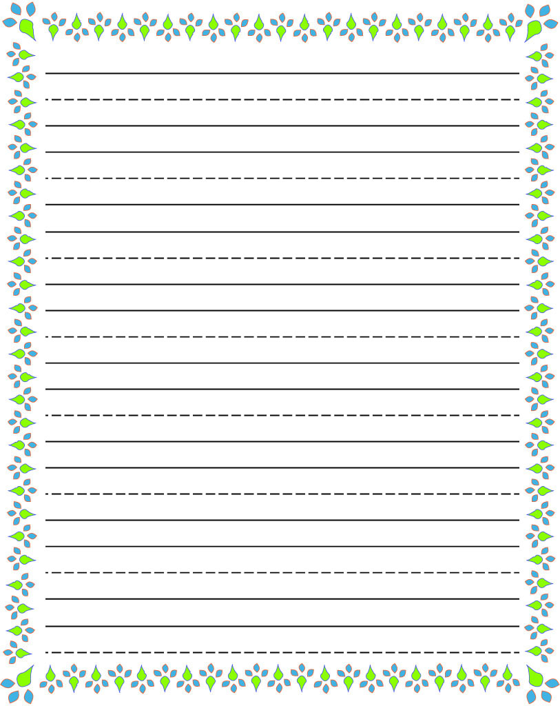 Free Printable Stationery For Kids, Free Lined Kids Writing Paper - Free Printable Lined Handwriting Paper