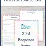 Free Printable Stem Response Pages For Your School | Homeschool   Free Printable Stem Activities