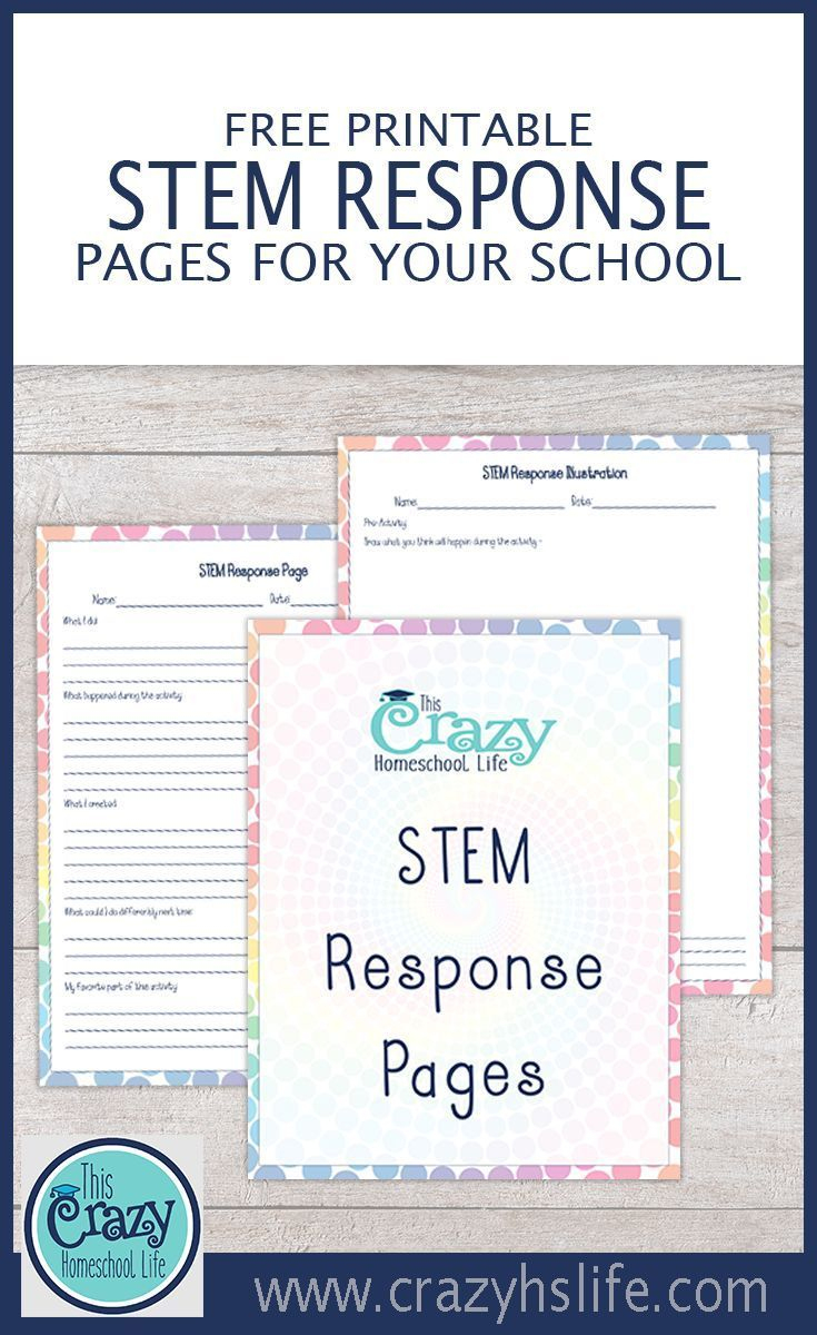 Free Printable Stem Response Pages For Your School | Homeschool - Free Printable Stem Activities