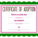Free Printable Stuffed Animal Adoption Certificate | Free Printables   Free Printable Stuffed Animal Adoption Certificate