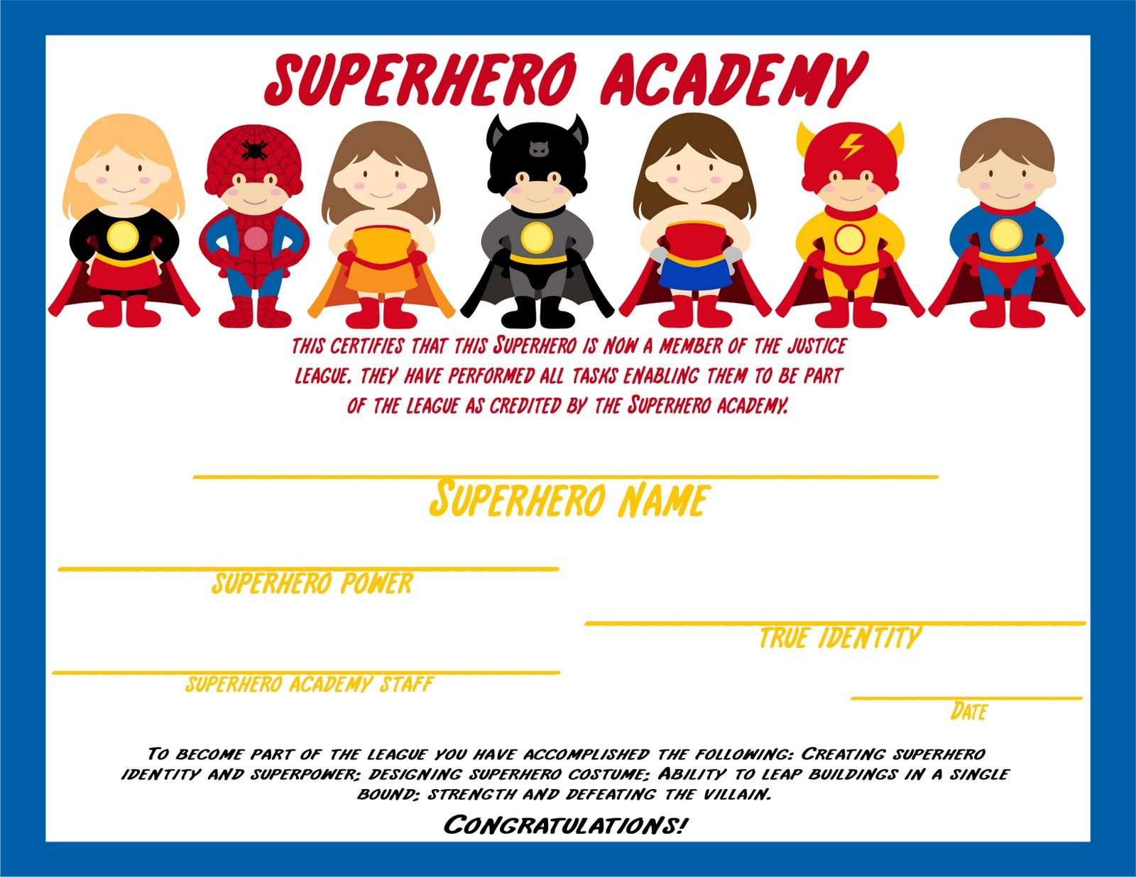 Free Printable Superhero Masks |  Ceiling. The Backdrop Of The - Free Printable Superhero Certificates