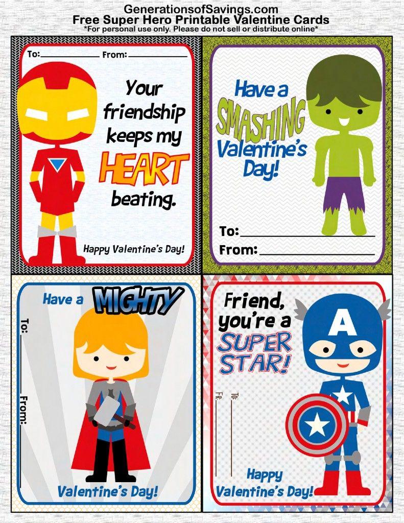 Free Printable Superhero Valentine's Day Cards   Valentine Love - Free Printable Superman Valentine Cards