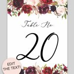 Free Printable Table Numbers   Download And Print These Free Printab   Free Printable Table Numbers