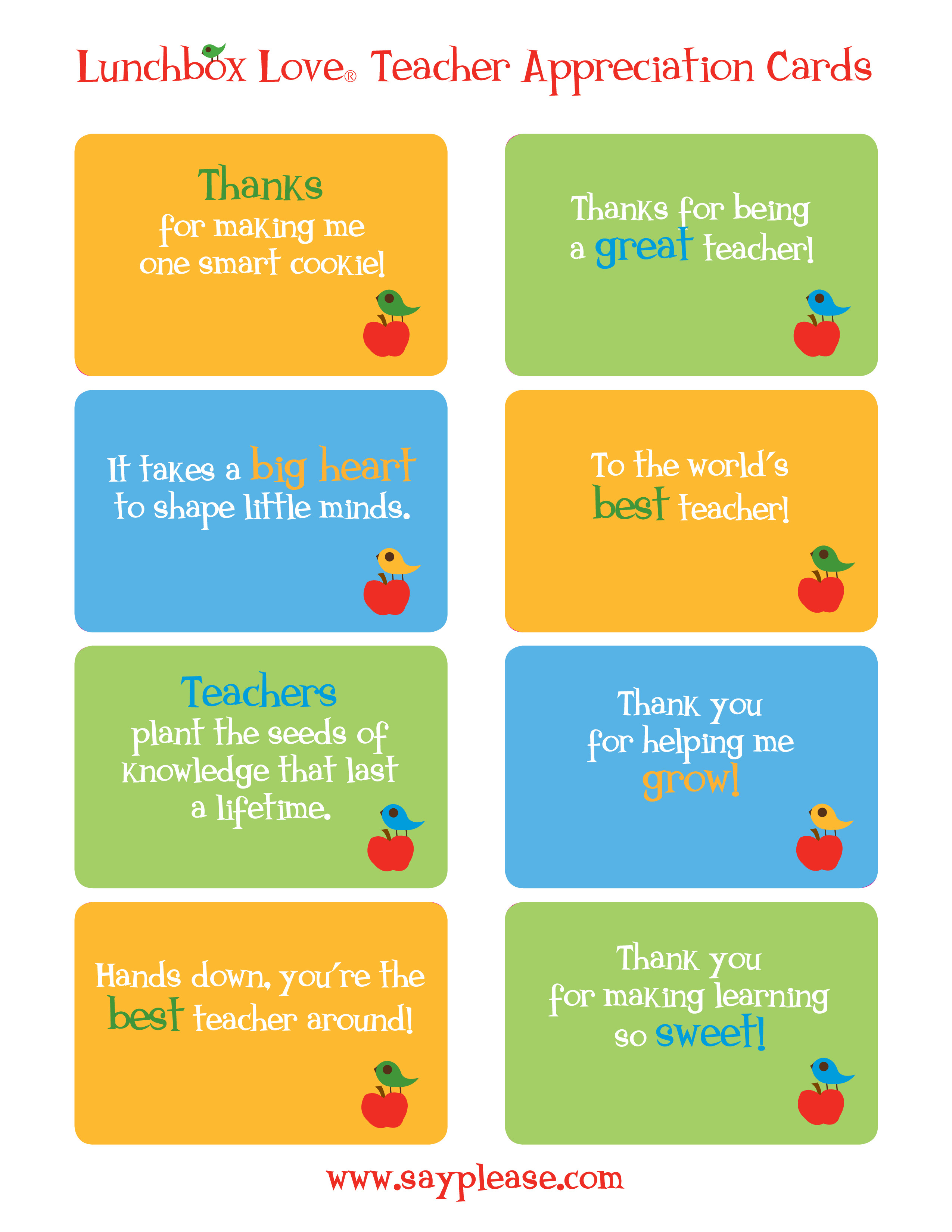 Free Printable Teacher Appreciation Cards - Classy World - Free Printable Teacher Appreciation Cards To Color