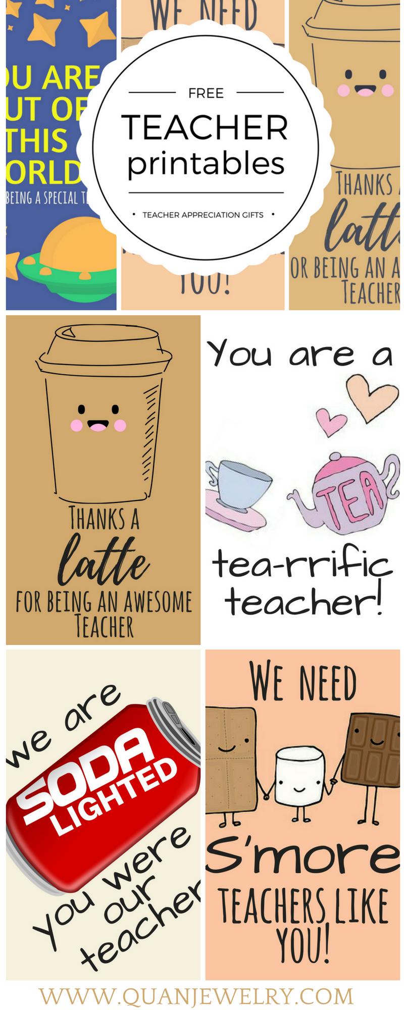 Free Printable Teacher Appreciation Thank You Cards | Teacher Gift - Military Thank You Cards Free Printable