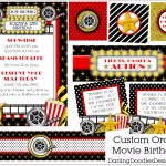 Free Printable Th Birthday Party Invitations Lovely Free Movie Night   Movie Birthday Party Invitations Free Printable