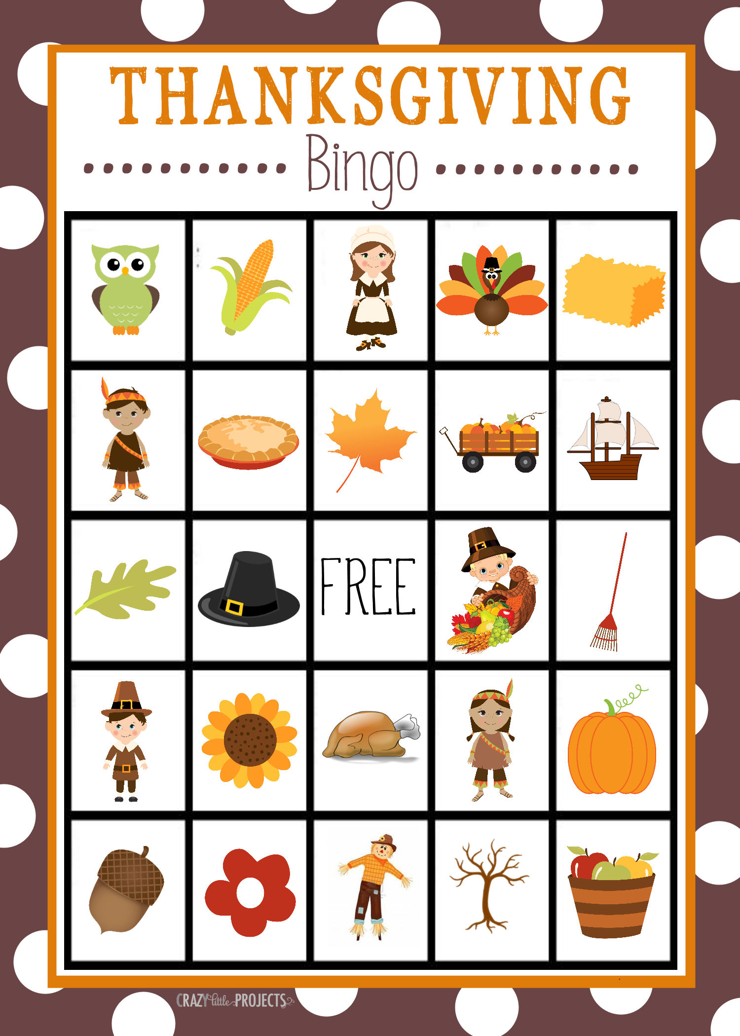 Free Printable Thanksgiving Bingo Game | Craft Time | Pinterest - Free Printable For Thanksgiving