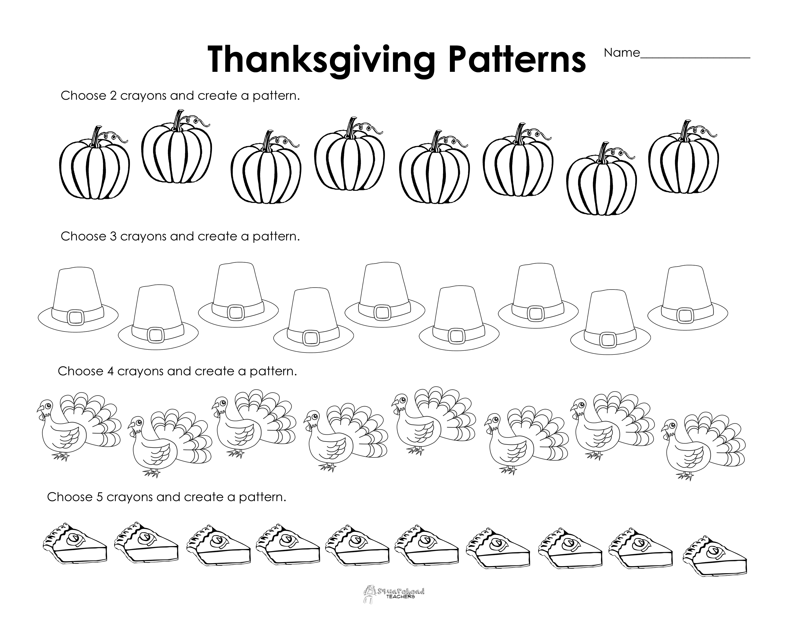 Free Printable Thanksgiving Worksheets For Preschoolers - 8.13 - Math Worksheets Thanksgiving Free Printable