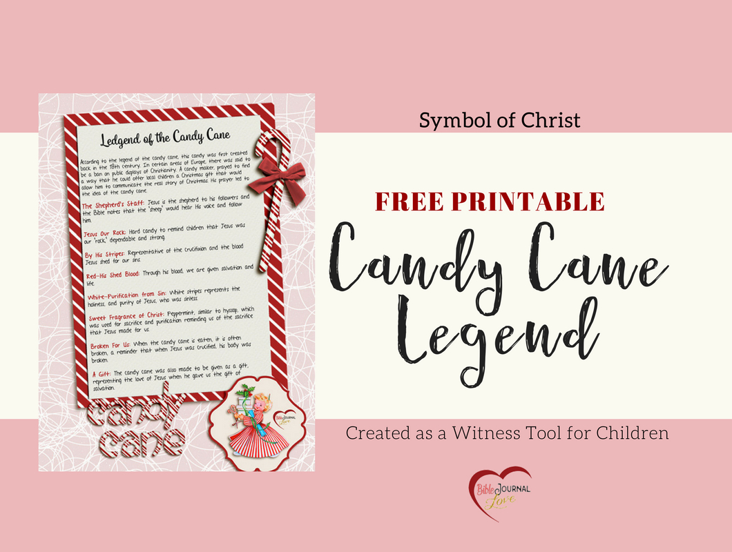 Free Printable: The Candy Cane Legend – Bible Journal Love - Free Printable Candy Cane