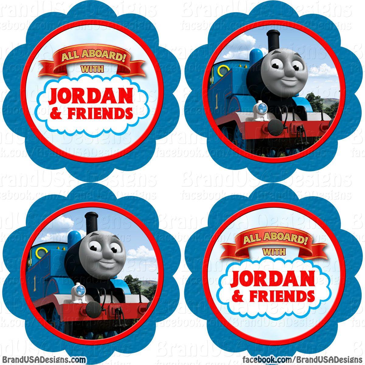Free Printable Thomas The Train Cup Cake Toppers - Google Search - Free Printable Train Cupcake Toppers