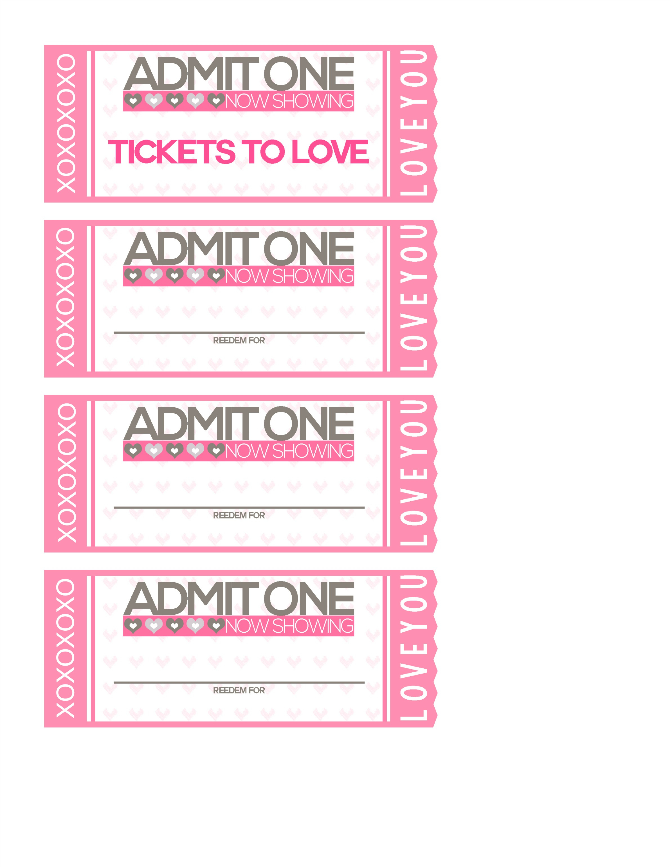 Free Printable: Tickets To Love Valentine Coupon Book! - Shesaved® - Free Printable Valentine Books