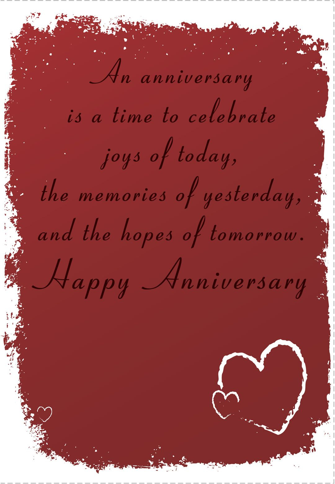Free Printable 'time To Celebrate' Anniversary Greeting Card - Free Printable 50Th Anniversary Cards