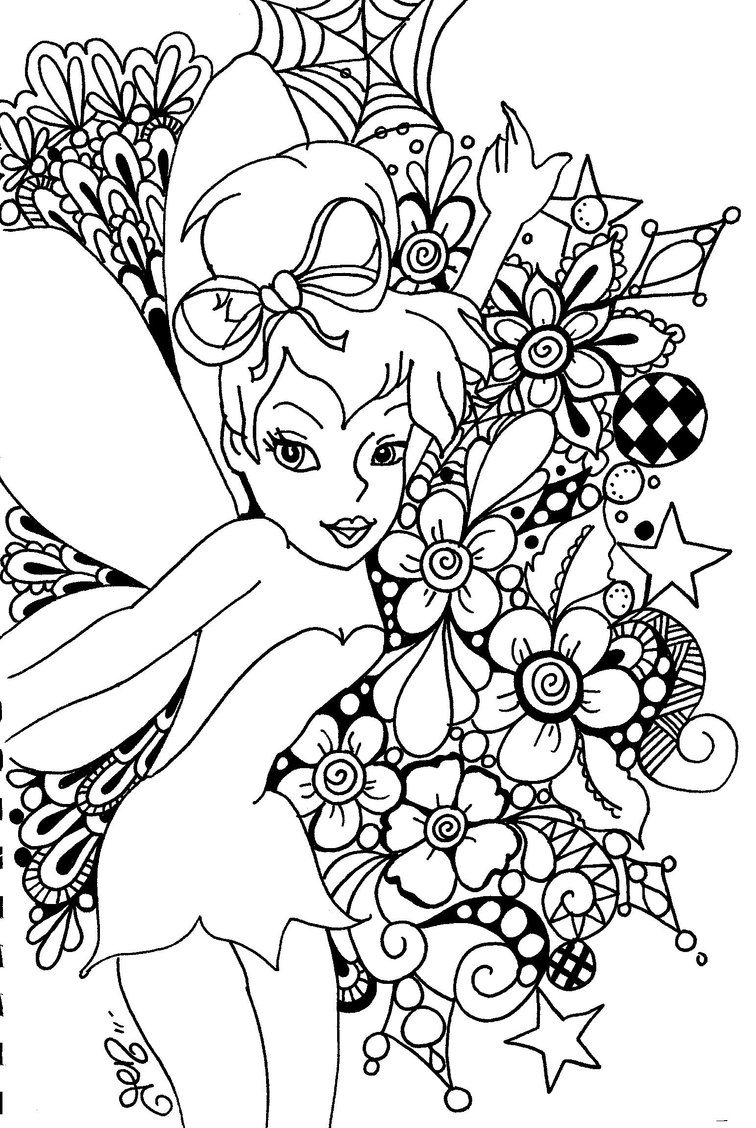 Free Printable Tinkerbell Coloring Pages For Kids | Art!! | Coloring - Tinkerbell Coloring Pages Printable Free