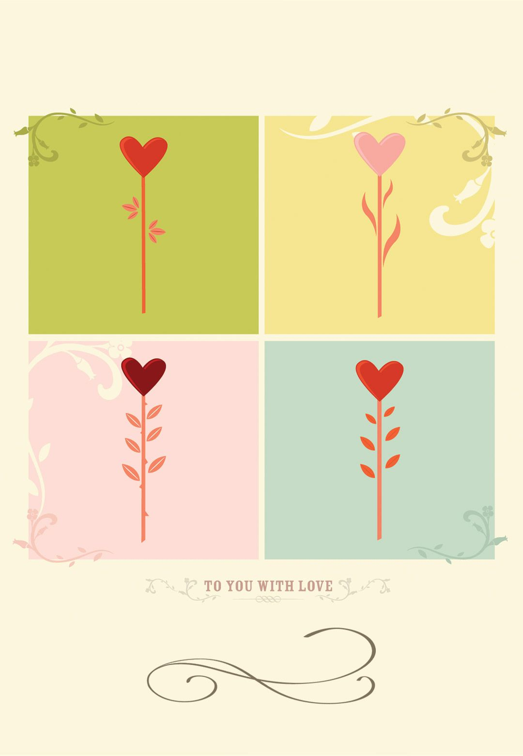 Free Printable To You With Love Greeting Card | Home | Pinterest - Free Printable Love Greeting Cards