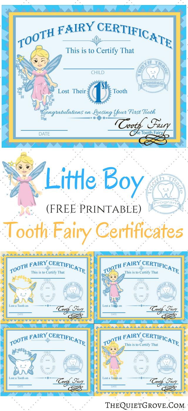 Free Printable Tooth Fairy Certificates | Kid's Boy/girl Stuff - Free Printable Tooth Fairy Certificate