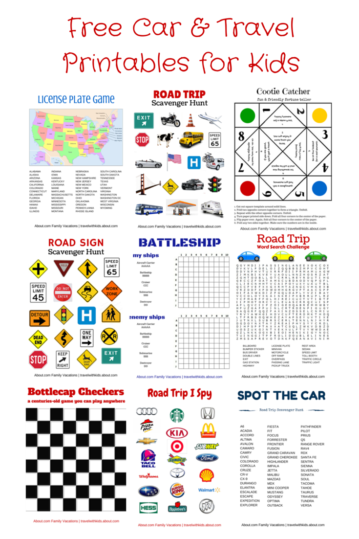 Free Printable Travel Games For Kids | Road Trip | Pinterest | Road - Free Printable Car Ride Games