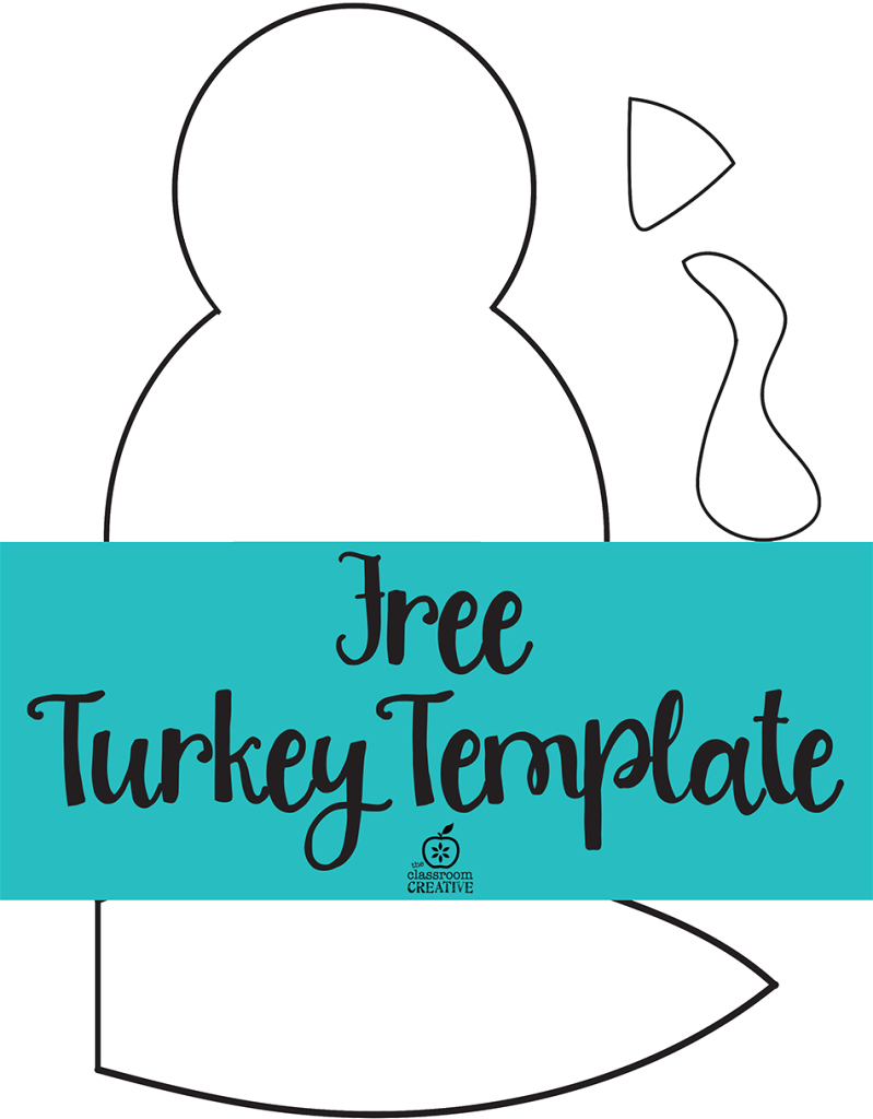 Free Printable Turkey Template. Easy Peasy | Kids Thanksgiving - Free Printable Turkey
