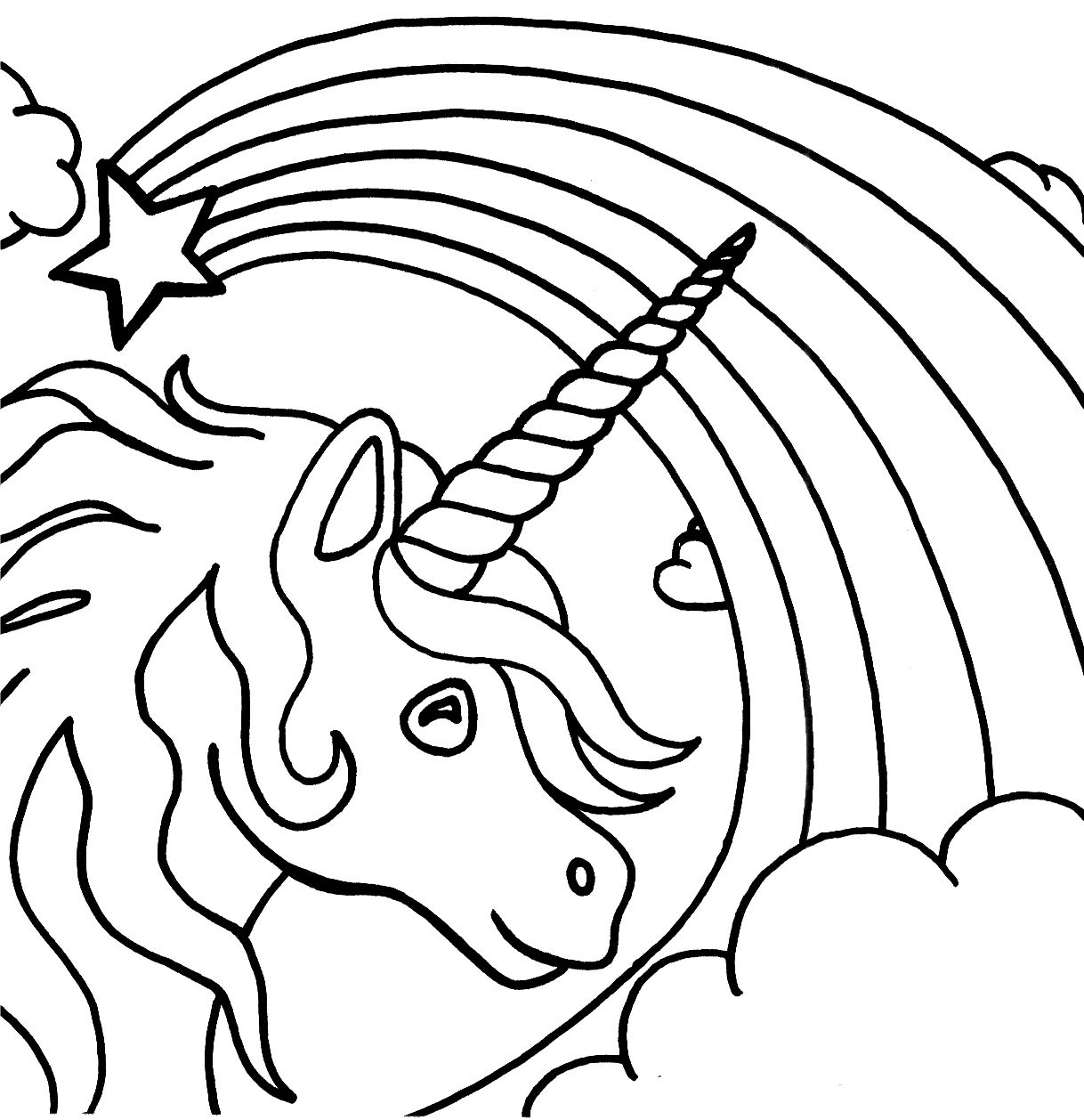 Free Printable Unicorn Coloring Pages For Kids | Fun | Pinterest - Free Printable Unicorn Coloring Pages