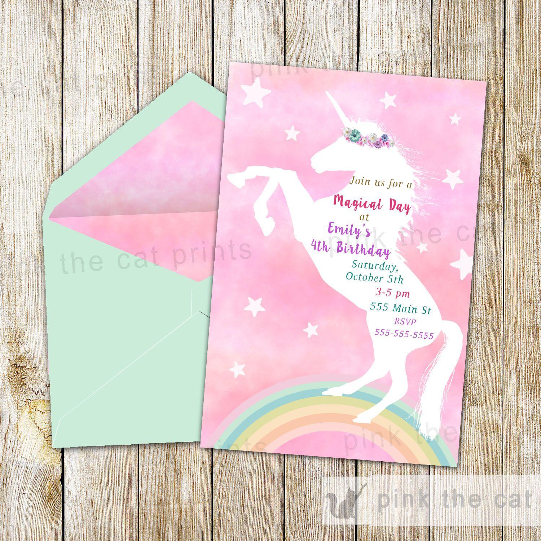 Free Printable Unicorn Invitations   Freebies   Unicorn Invitations - Printable Invitations Free No Download