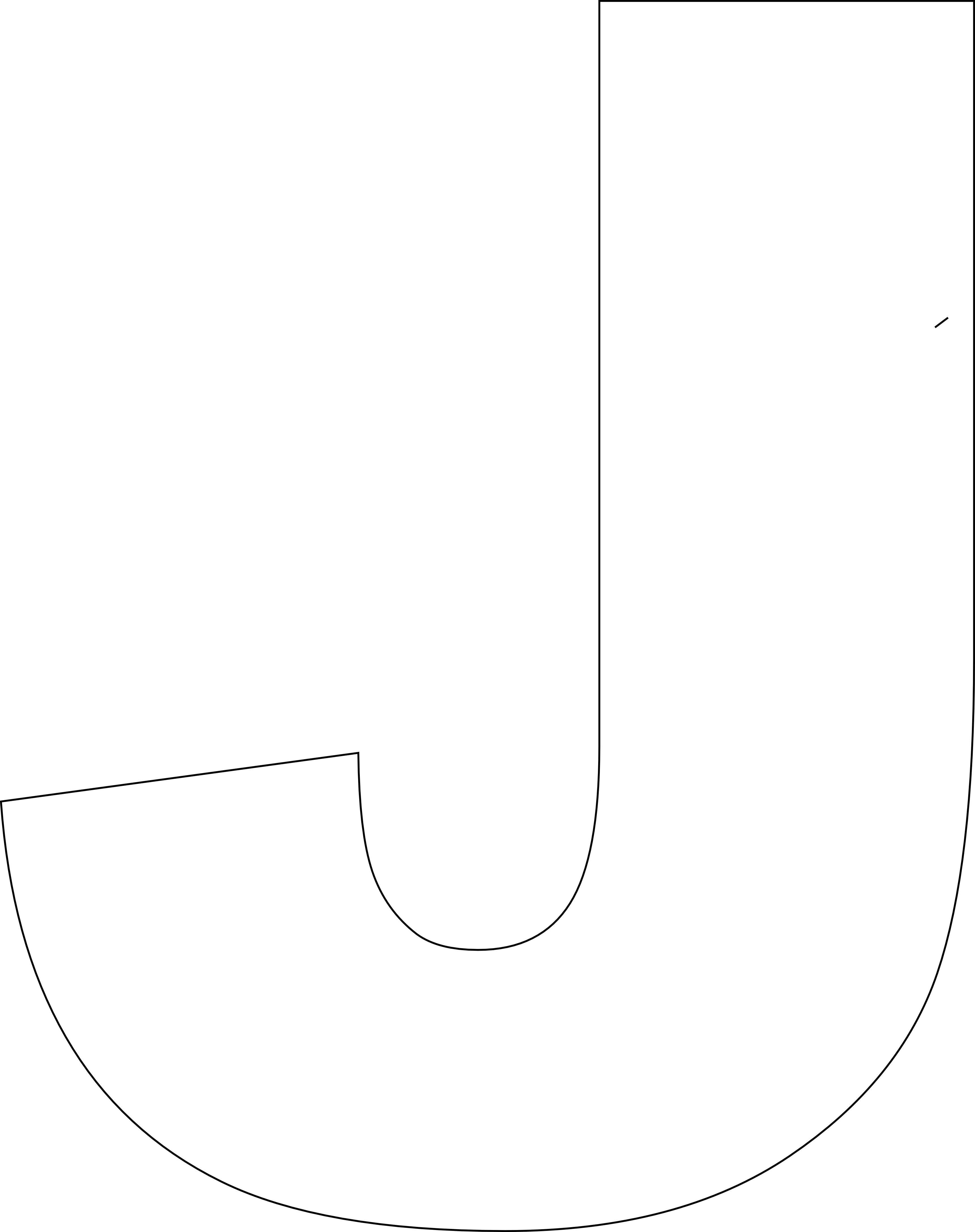 Free Printable Upper Case Alphabet Template | Stencil | Alphabet - Free Printable Letter J