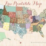 Free Printable Usa Map – Shabby Chic   Free Printable Usa Map
