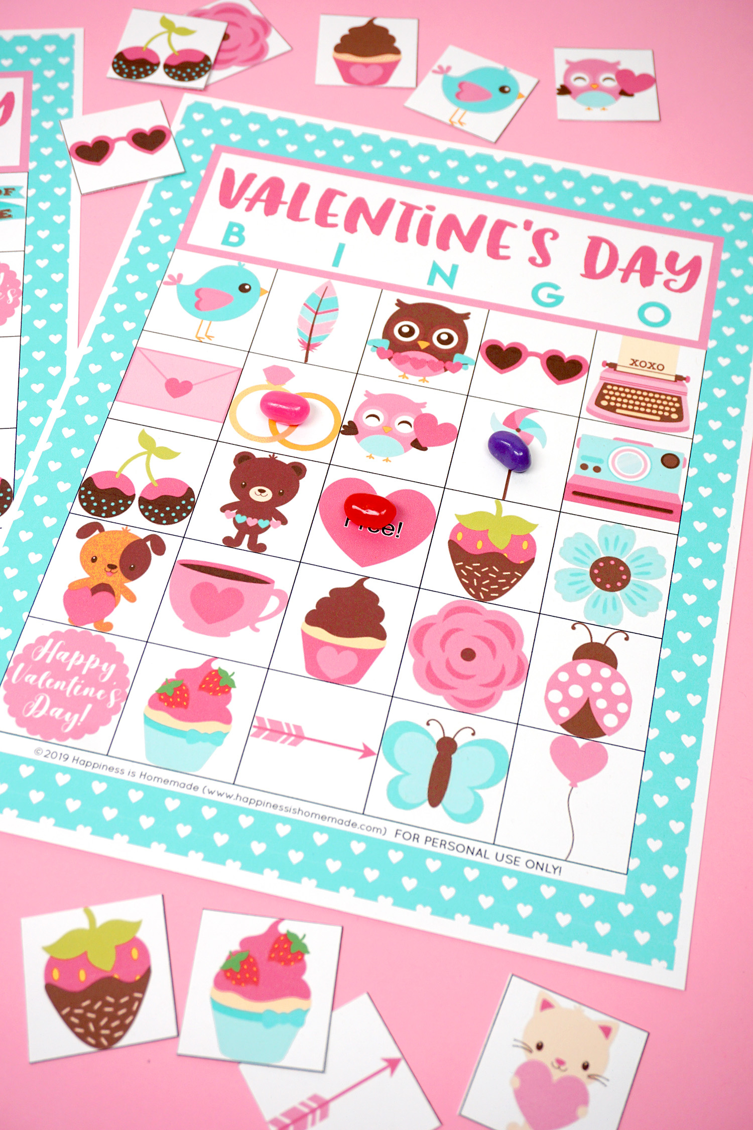 Free Printable Valentine Bingo - Happiness Is Homemade - Free Printable Valentines Bingo