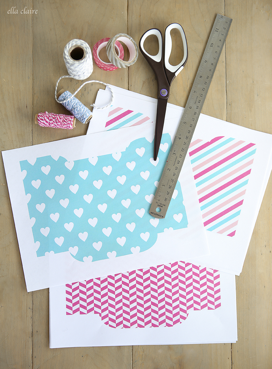 Free Printable Valentine Envelopes And Tags - Ella Claire - Free Printable Envelopes