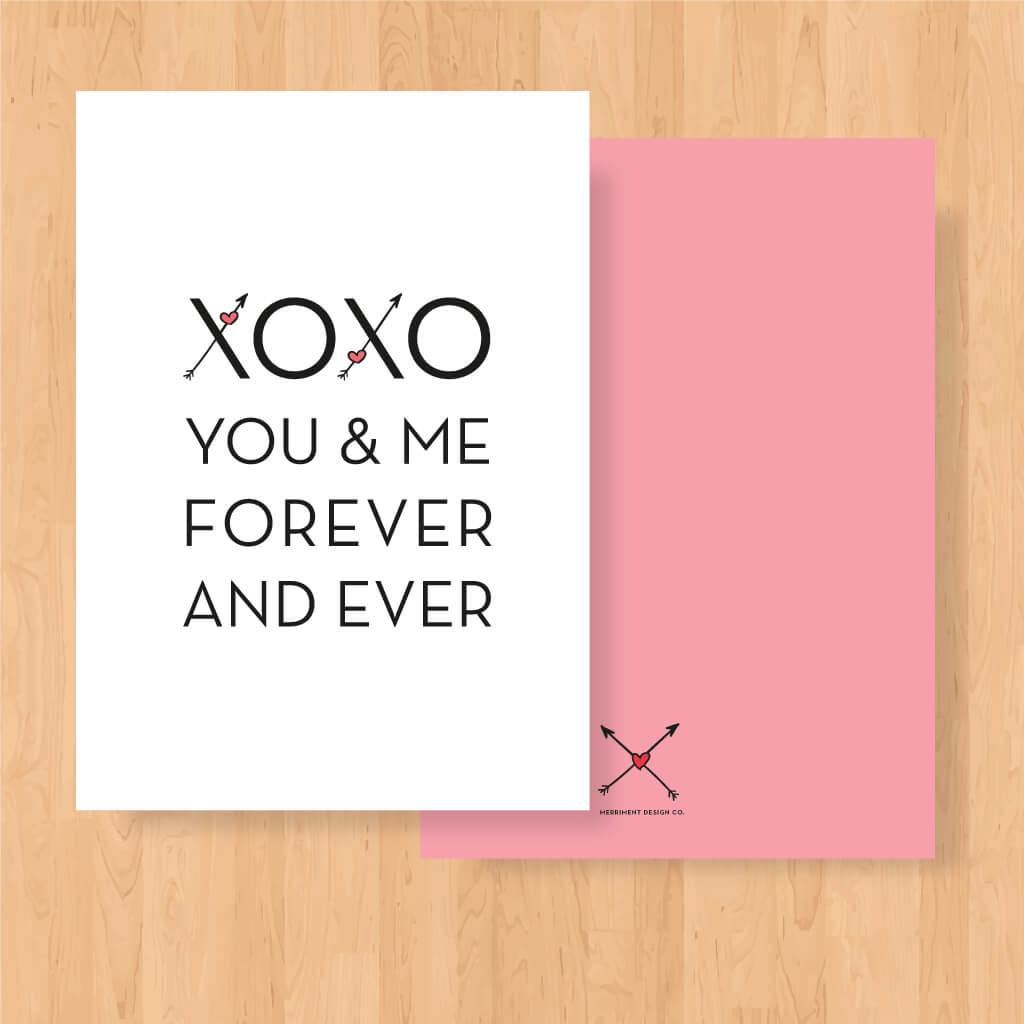 Free Printable Valentine: Xoxo You & Me - Merriment Design - Free Valentine Printable Cards For Husband
