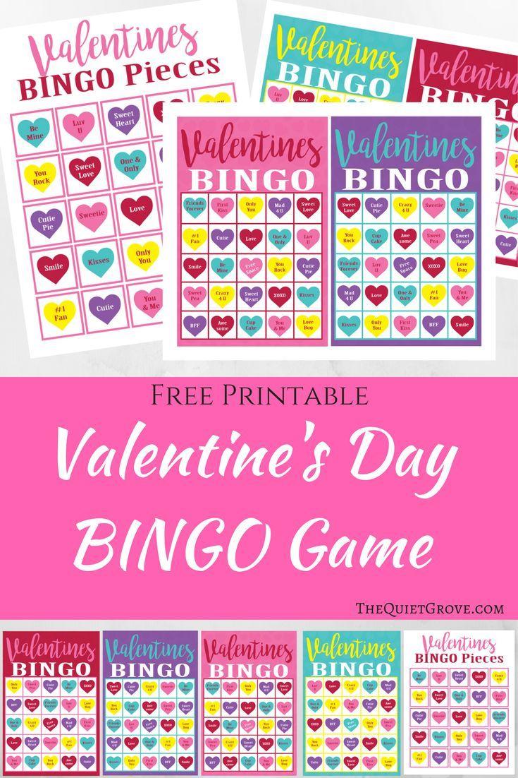 Free Printable Valentine's Day Bingo Game Via @thequietgrove - Free Printable Valentines Bingo