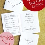 Free Printable: Valentine's Day Card For Kids | Valentine's Day   Free Printable Valentines Day Cards For Mom And Dad