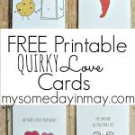 Free Printable Valentine's Day Cards And Gift Tags | Reindeer   Free Printable Valentine Cards For Husband