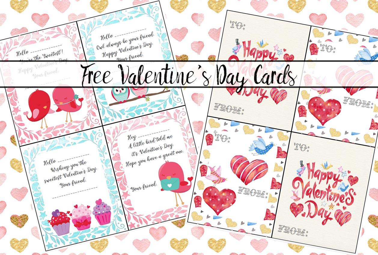 Free Printable Valentine's Day Cards For Kids - Free Printable Valentine Cards For Preschoolers