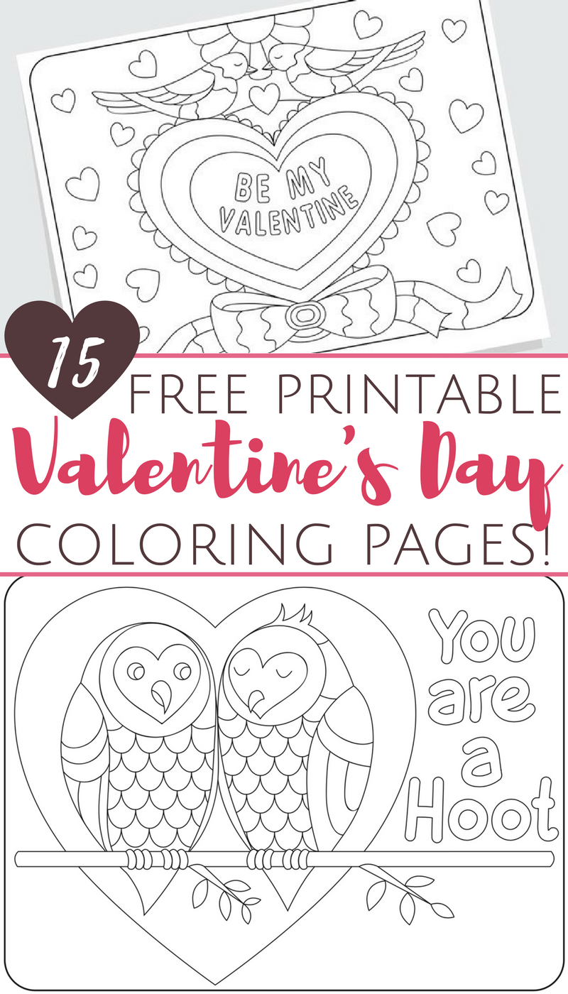 Free Printable Valentine's Day Coloring Pages For Adults And Kids - Free Printable Valentine Decorations