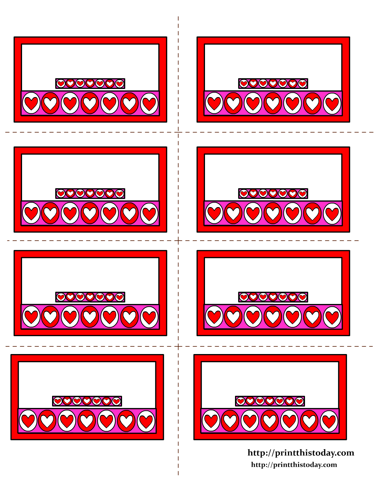 Free Printable Valentines Day Labels | Everything Valentines Day - Free Printable Heart Labels