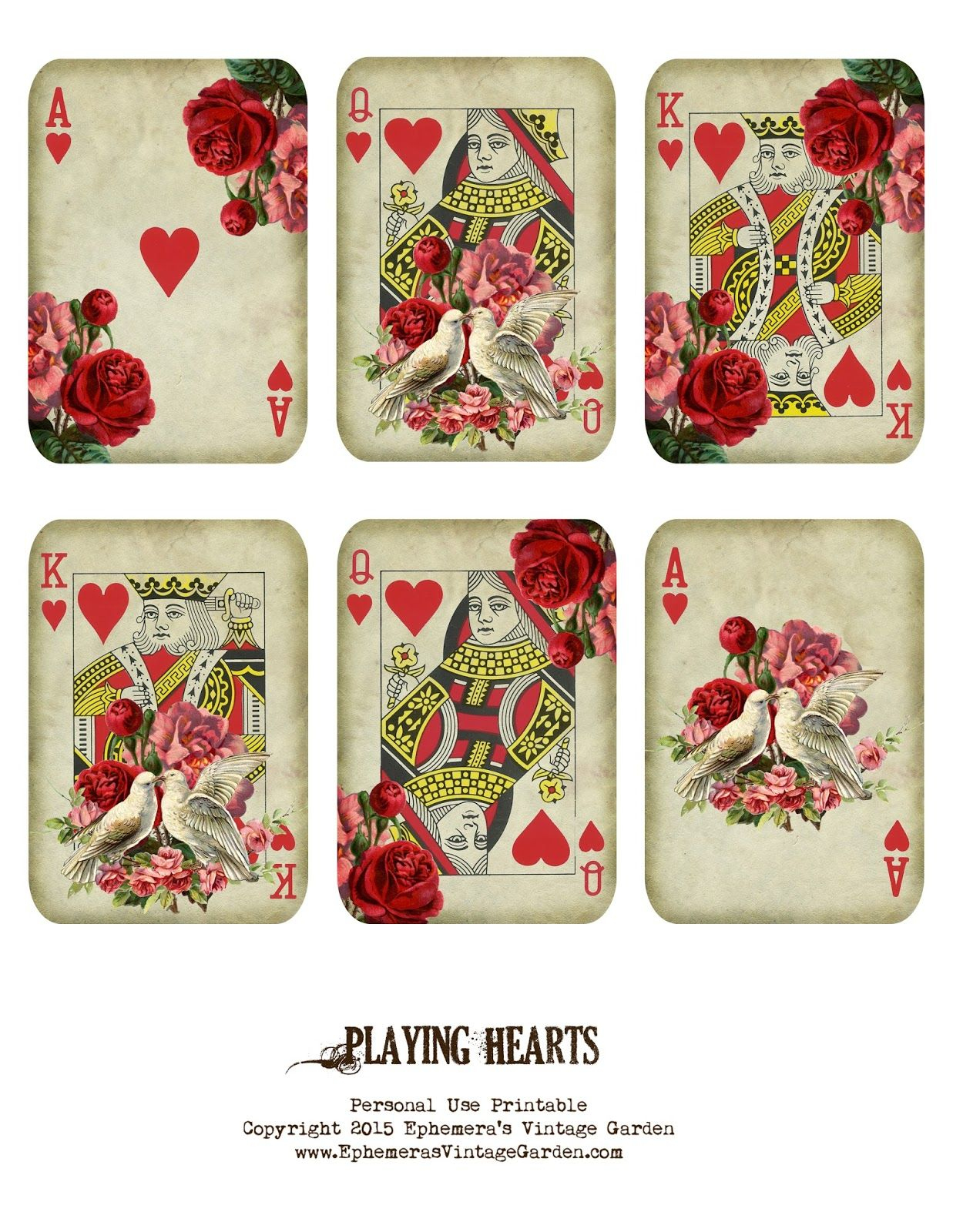 Free Printable - Valentine's Day Playing Cards (Ephemera's Vintage - Free Printable Deck Of Cards