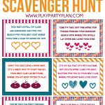 Free Printable Valentine's Day Scavenger Hunt Kids & Adults Will Love   Free Printable Treasure Hunt Games