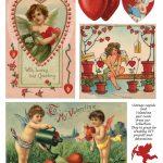 Free Printable Vintage And New Valentine Art   Art Design Joy   Free Printable Vintage Valentine Pictures