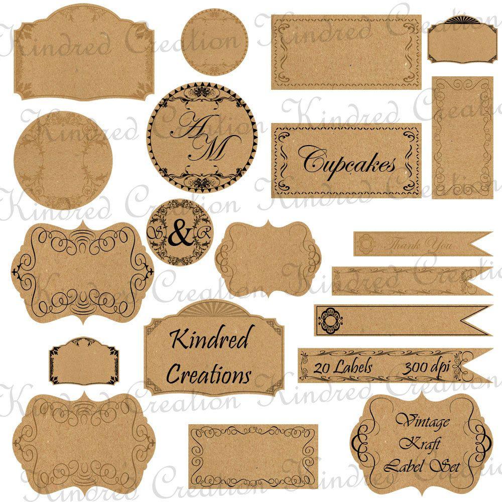 Free Printable Vintage Paper Label Tags   Halloween   Price Labels - Free Printable Price Labels