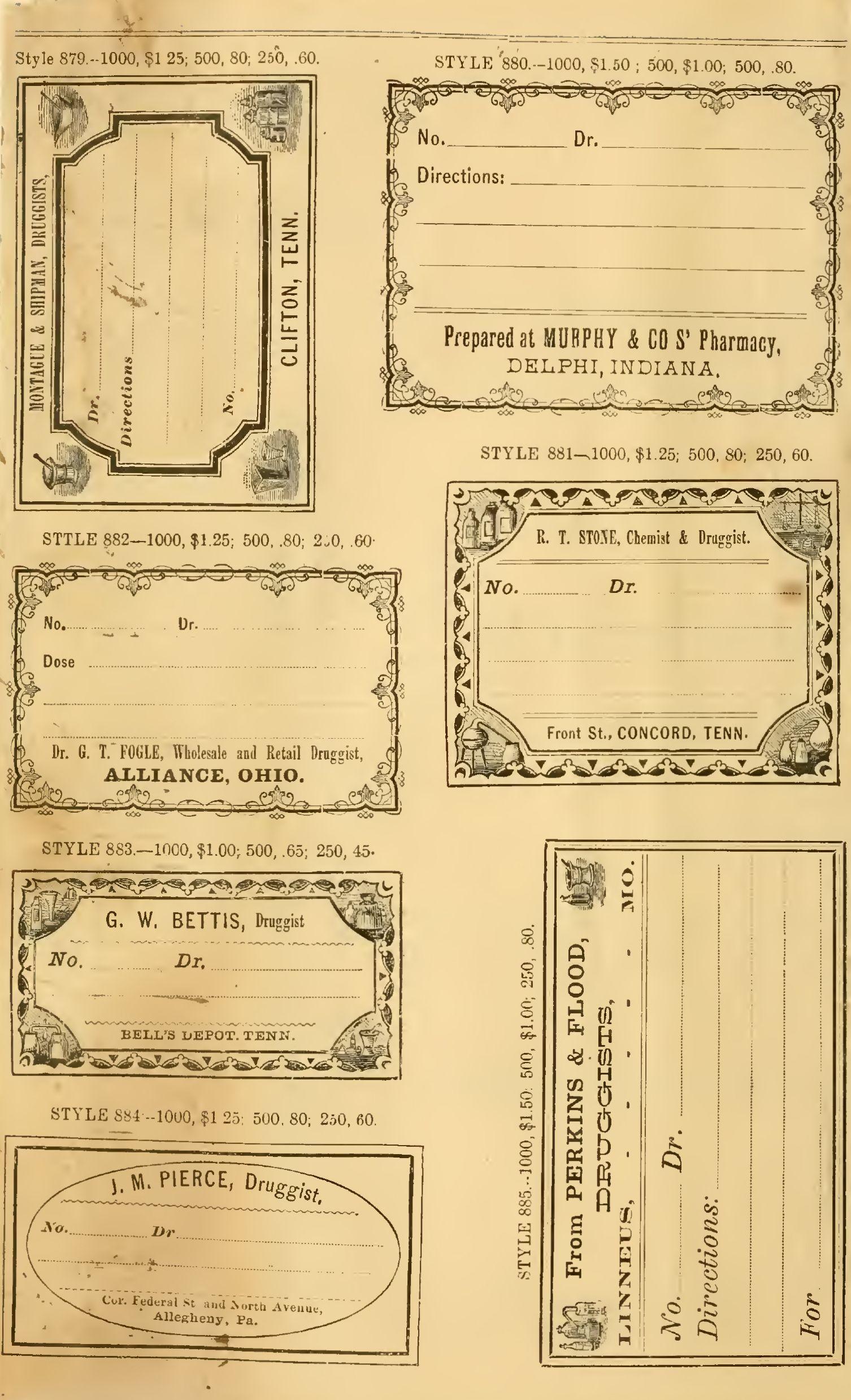Free Printable Vintage Pharmacy & Apothecary Labels   The - Free Printable Vintage Labels