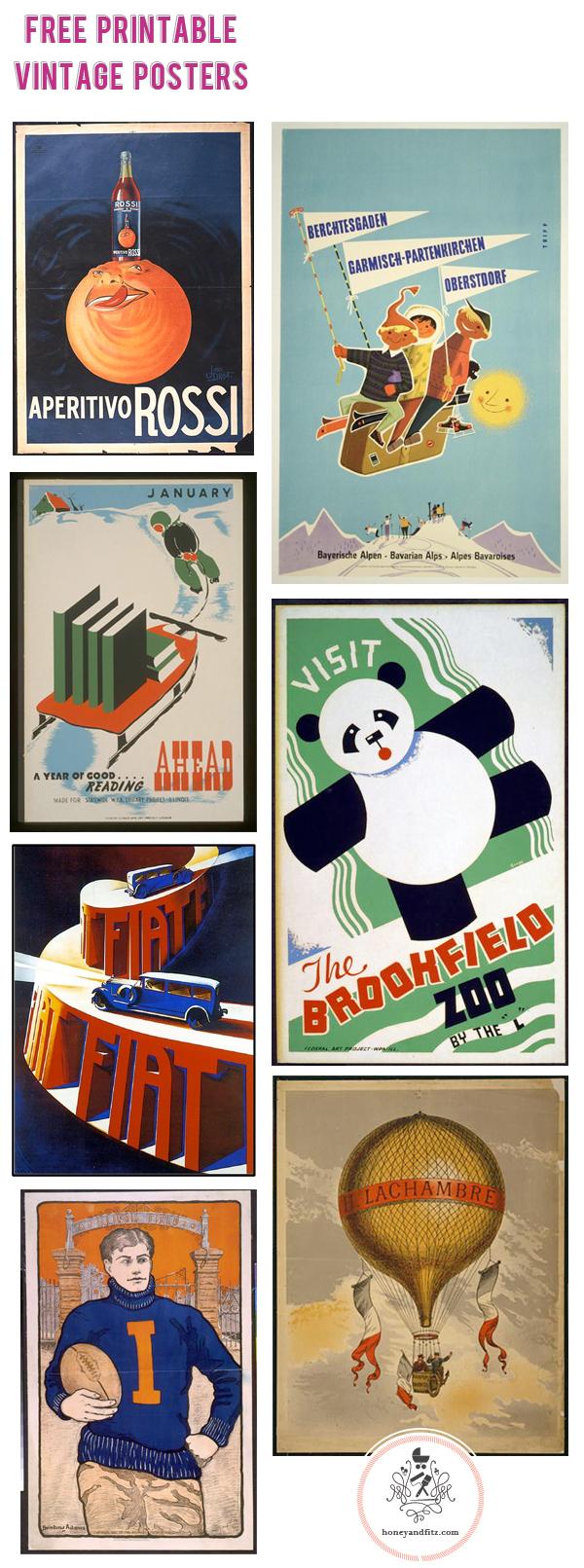 Free Printable Vintage Posters - Free Printable Sports Posters