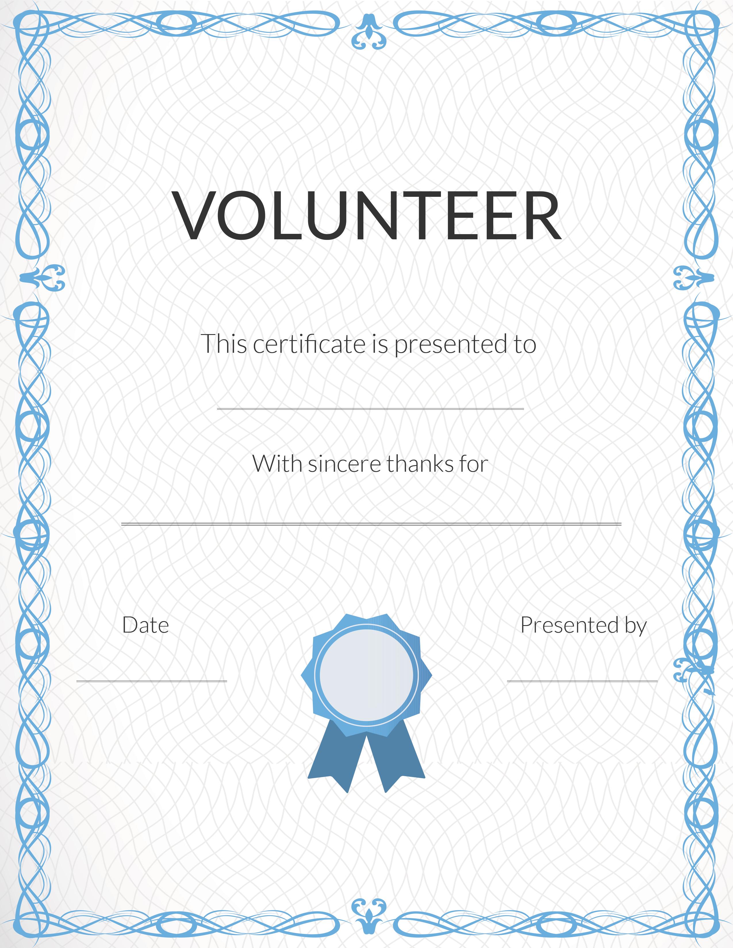 Free Printable Volunteer Appreciation Certificates | Signup - Free Printable Certificates For Teachers