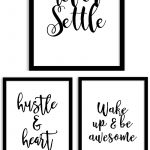 Free Printable Wall Art From @chicfetti   Perfect For Your Office Of   Free Printable Quote Stencils