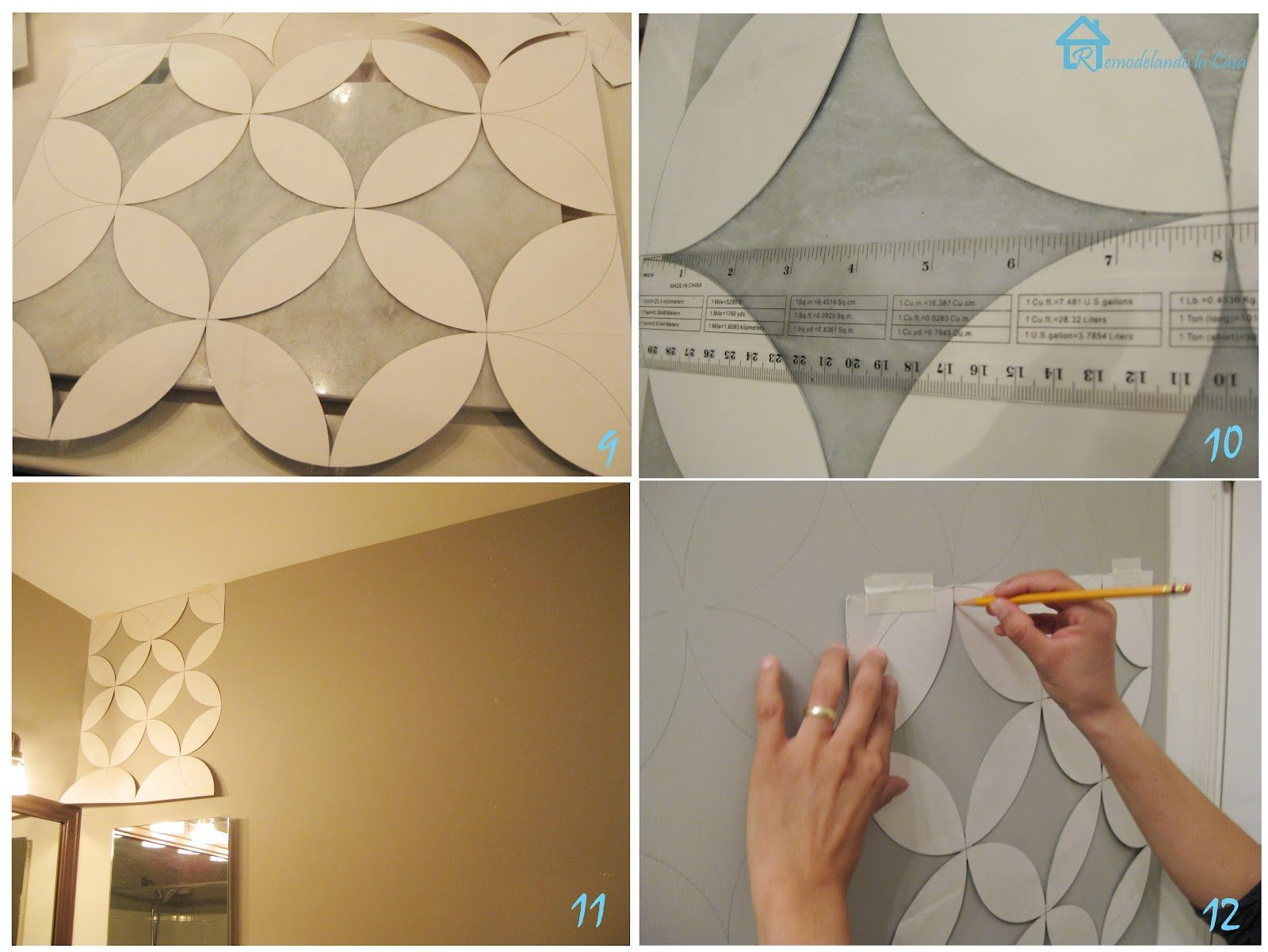Free Printable Wall Stencils | With The Cut Out Pieces It Was Easier - Free Printable Wall Stencils For Painting