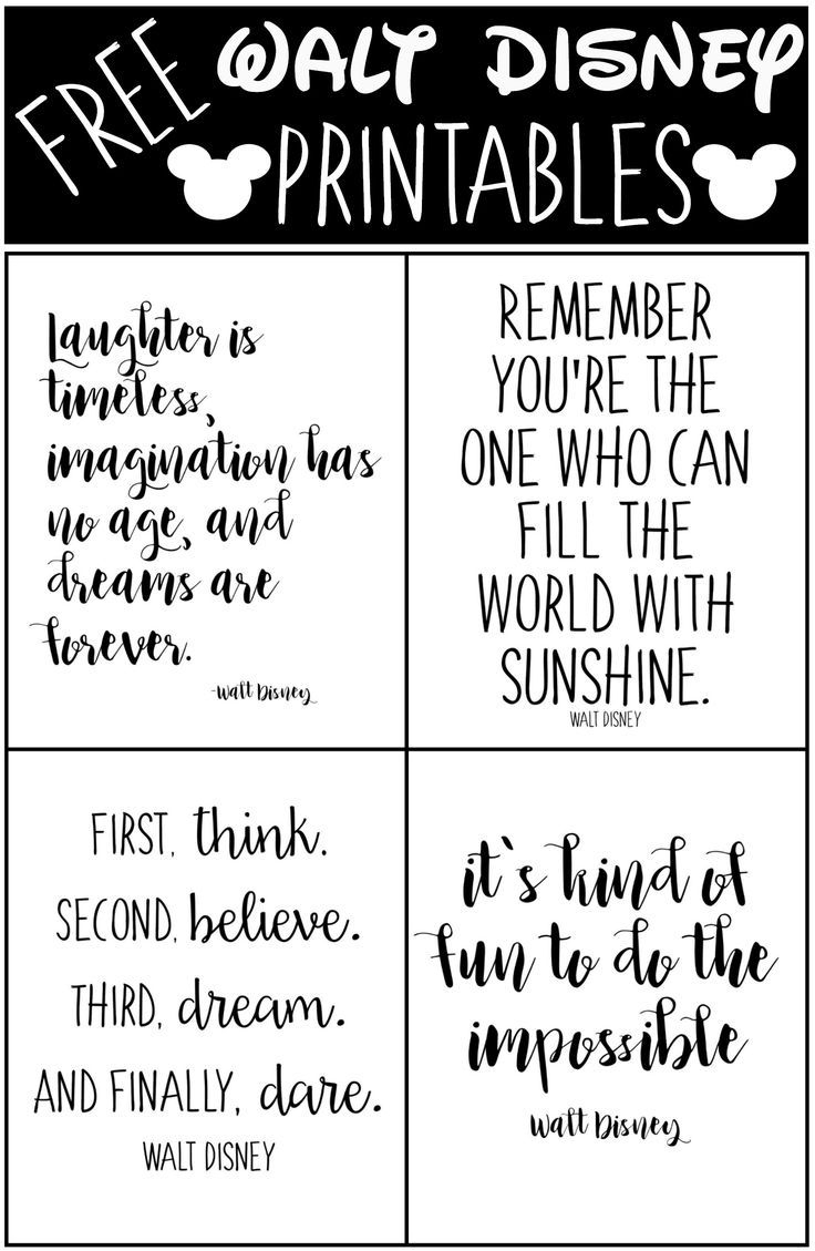 Free Printable Walt Disney Quotes | Stickers Gratuits À Imprimer - Free Printable Quotes
