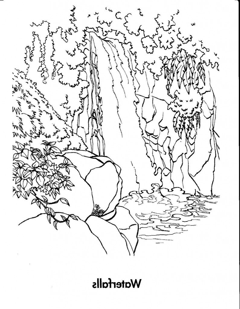 Free Printable Waterfall Coloring Pages   Free Printable - Free Printable Waterfall Coloring Pages