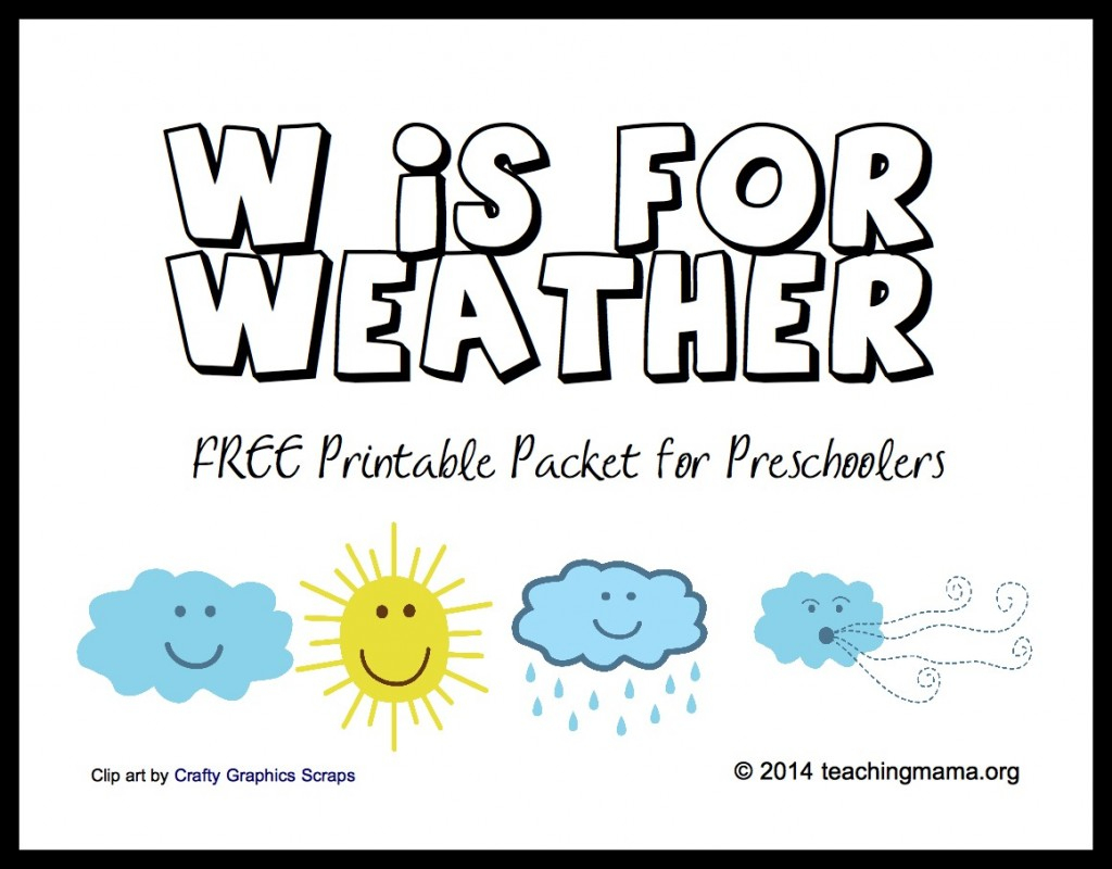 Free Printable Weather Activities For Kids | True Aim - Free Printable Weather Chart For Preschool