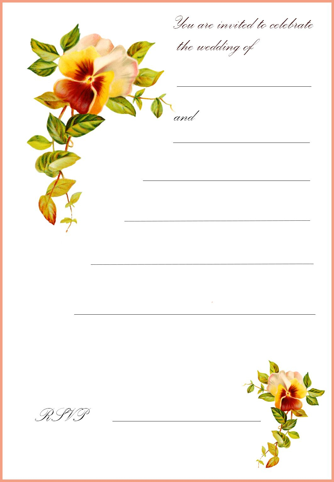 Free Printable Wedding Clip Art | Go To The Top Of This Page Free - Wedding Invitation Cards Printable Free
