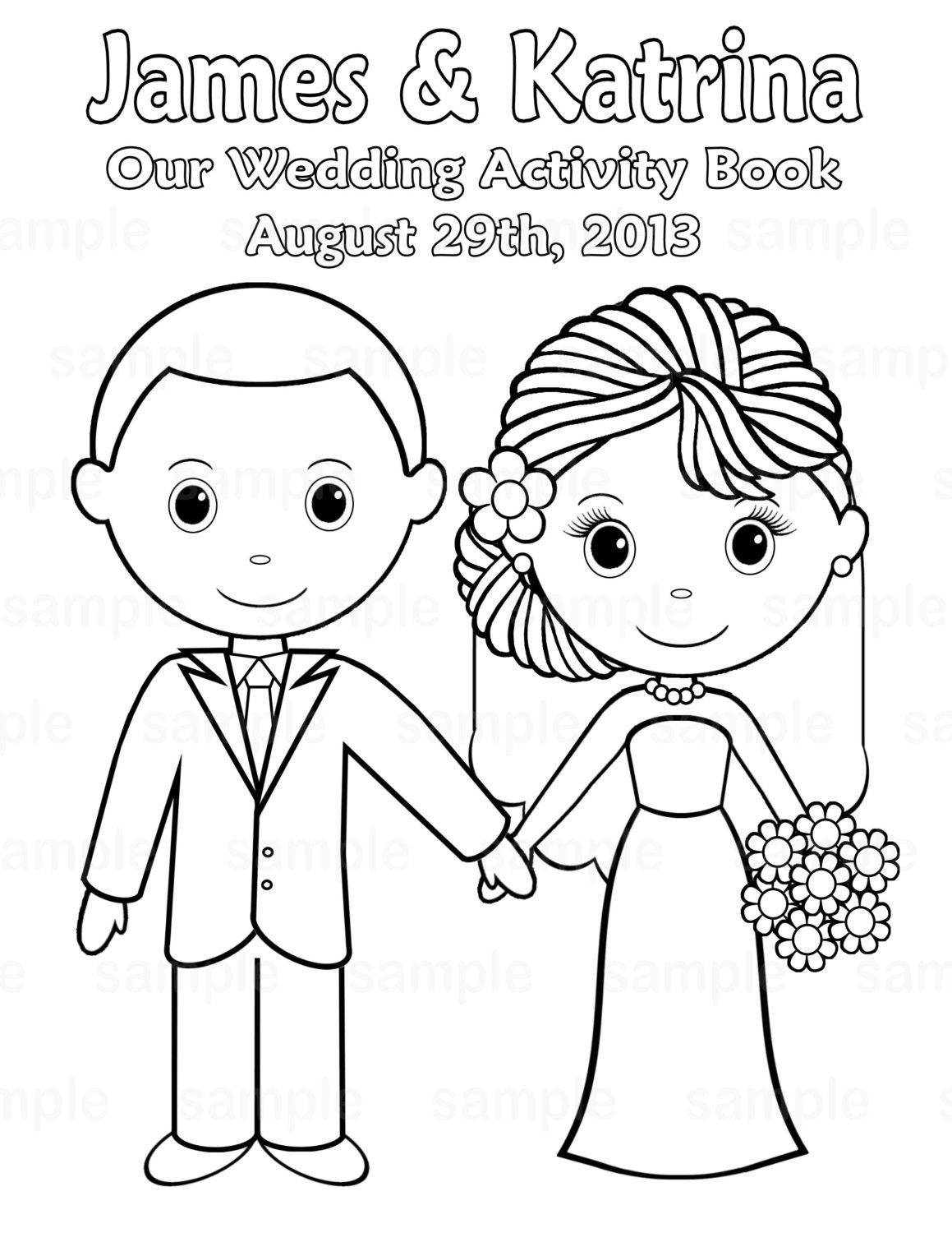Free Printable Wedding Coloring Pages | Free Printable Wedding - Wedding Coloring Book Free Printable