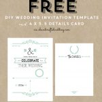 Free Printable Wedding Invitation Template | ** All Things Wedding   Free Printable Wedding Invitations